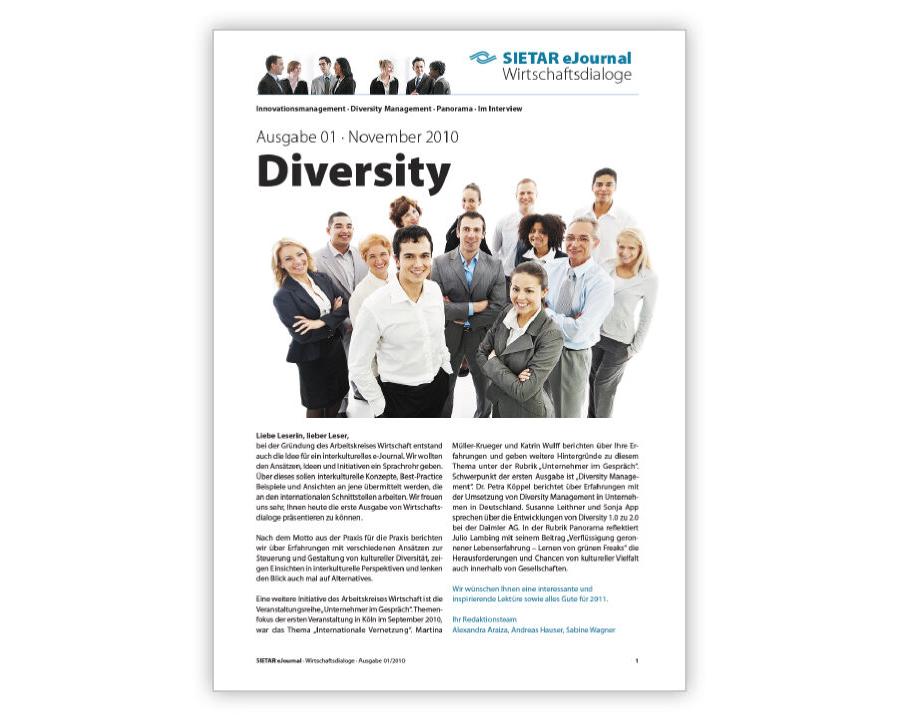 Ausgabe 01 · November 2010: Diversity
