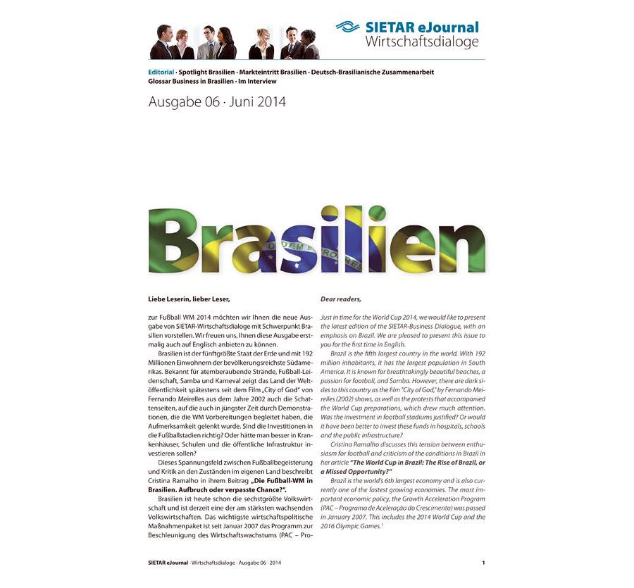 Ausgabe 06 · Juni 2014: Brasilien