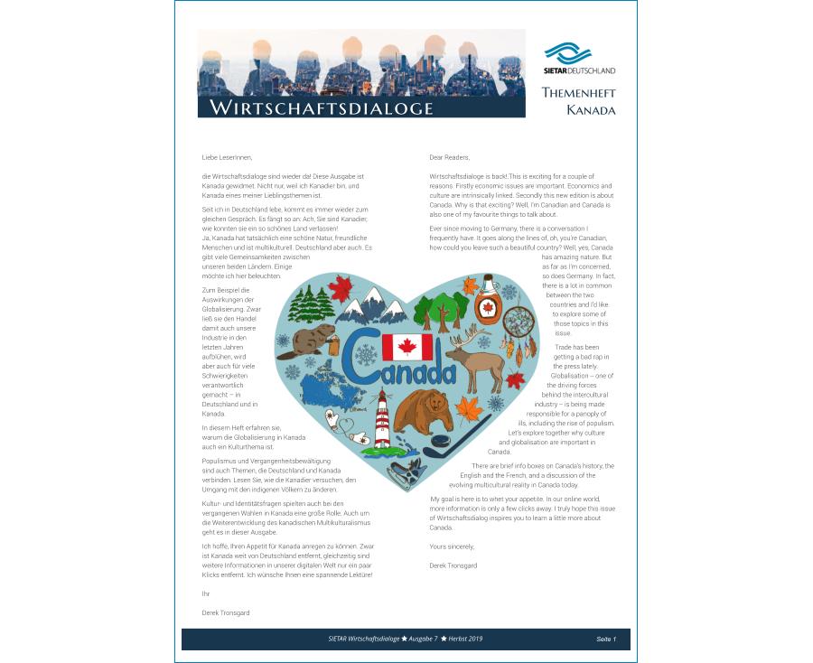 Wirtschaftsdialog 08 - Herbst 2019 - Kanada